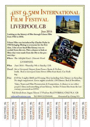 41st 9.5mm Intl' Film Festival 2016 @ Liverpool - UK {JPEG}